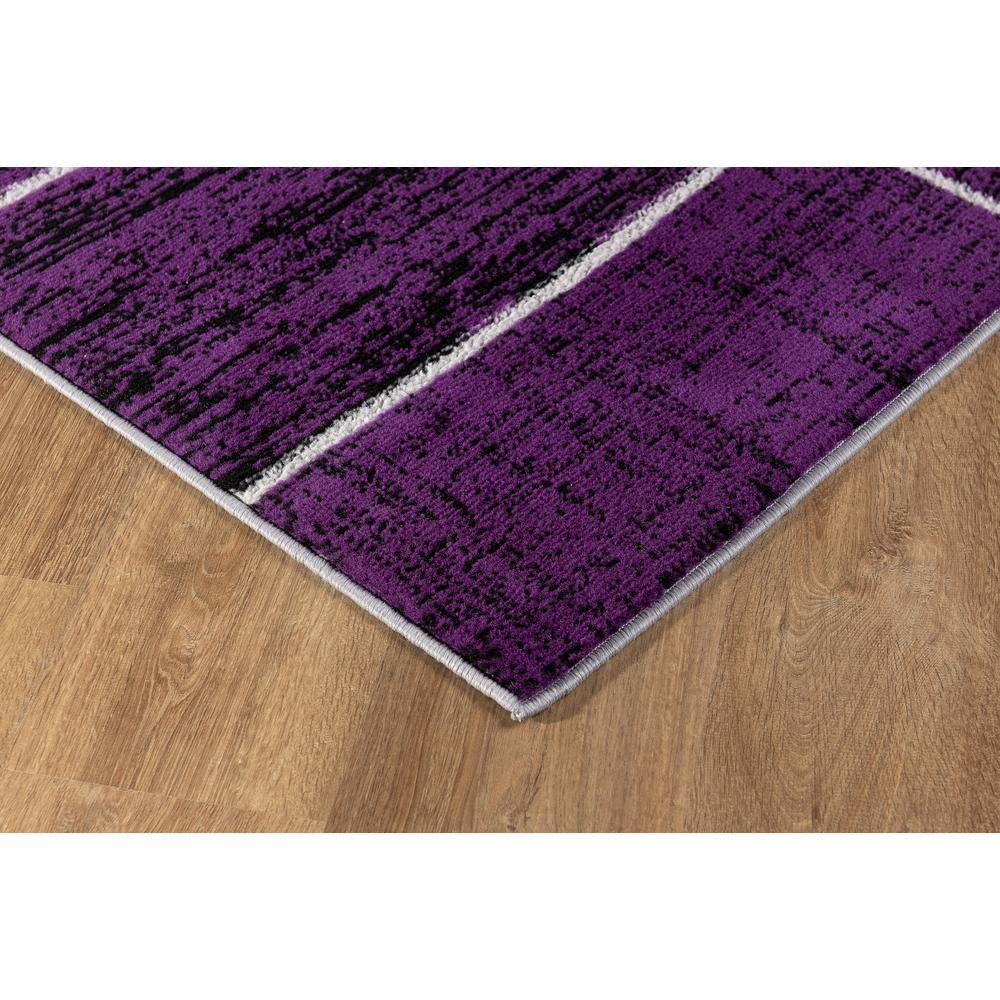 L'Baiet Verena Purple Geometric 2' x 3' Rug. Picture 5
