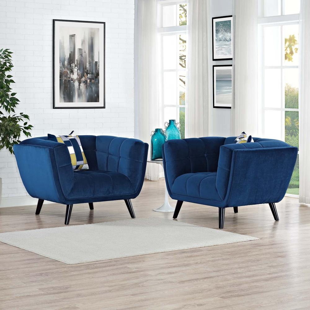 Bestow 2 Piece Velvet Armchair Set. Picture 5