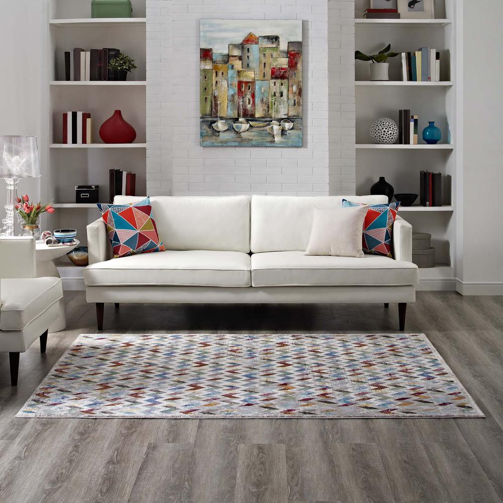 Gemma Chevron Mosaic 8x10 Area Rug