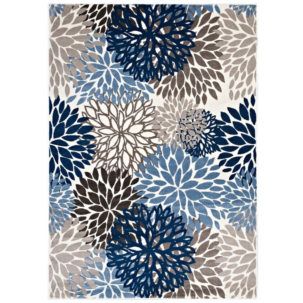 Vintage Floral Rugs: Calithea Vintage Classic Abstract Floral 8x10 Area Rug
