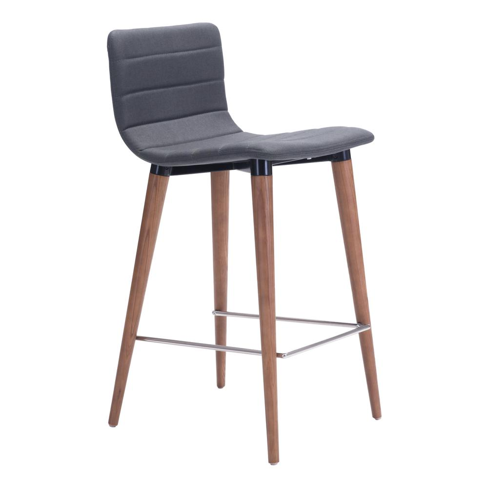 Jericho Counter Chair (Set of 2) Gray. Picture 1