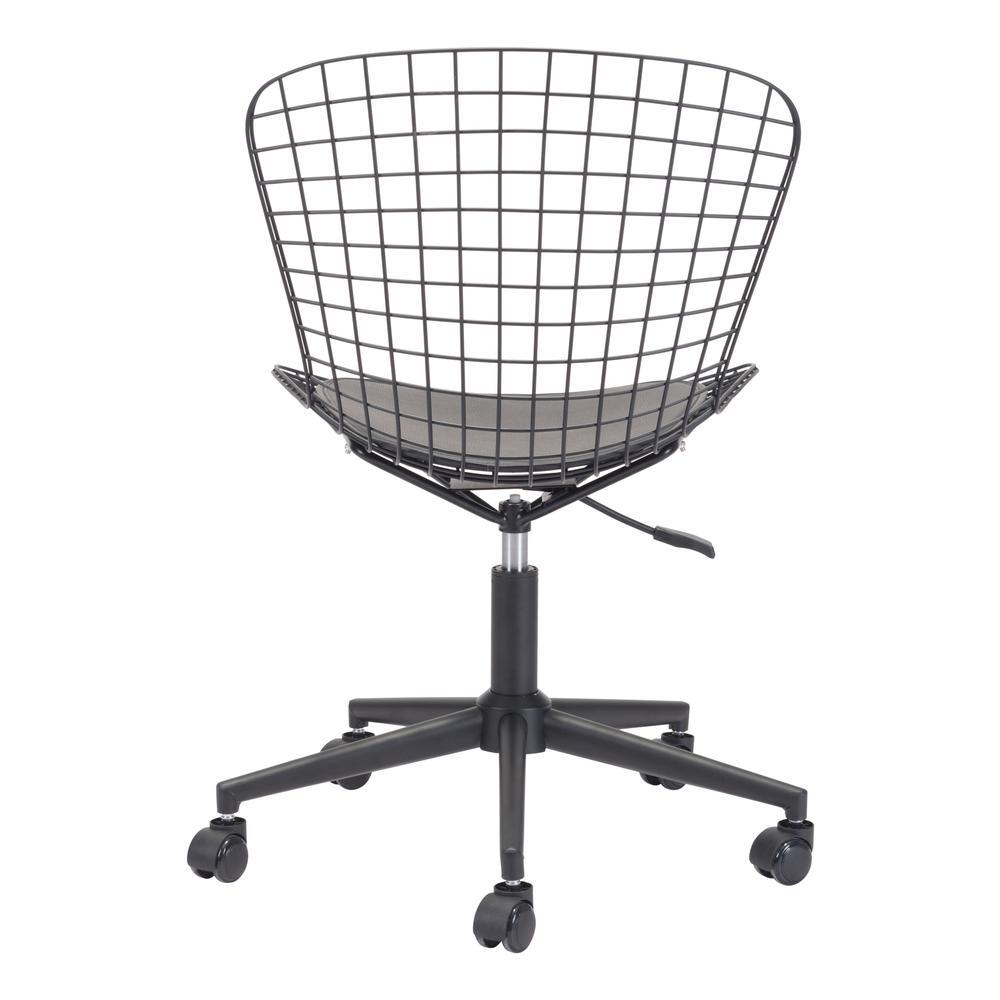 Wire Office Chair Black W Black Cushion