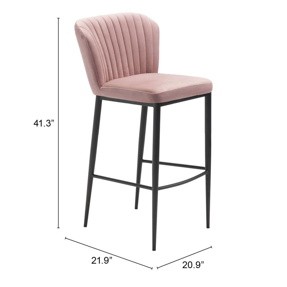 Tolivere Bar Chair Pink (Set of 2). Picture 7