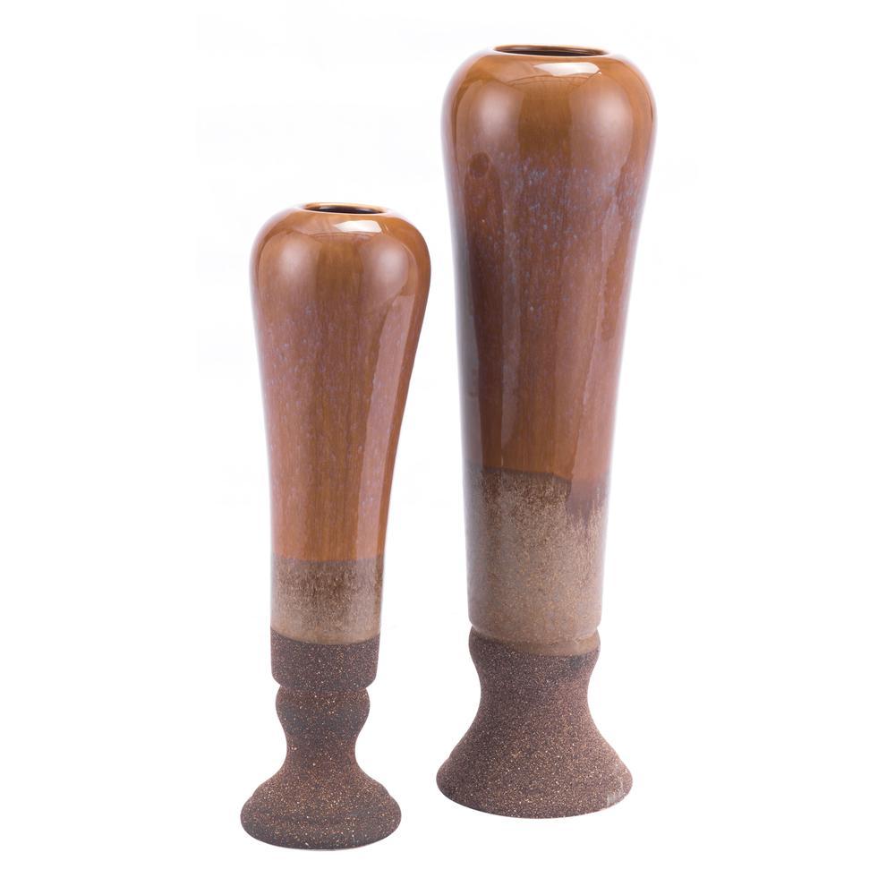Allium Tall Vase Brown. Picture 5