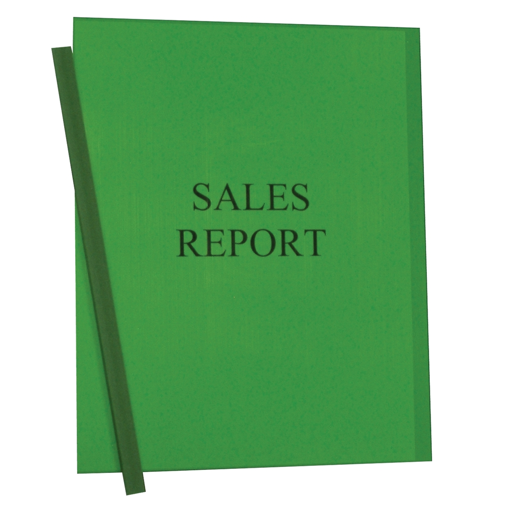 Vinyl Report Covers With Binding Bars Green Matching