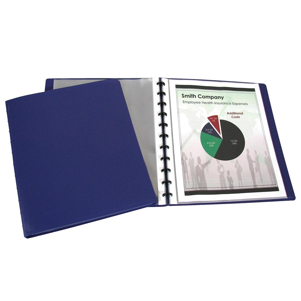 Binder Builder Portfolio, Closed Spine, Blue W/15 Sheet