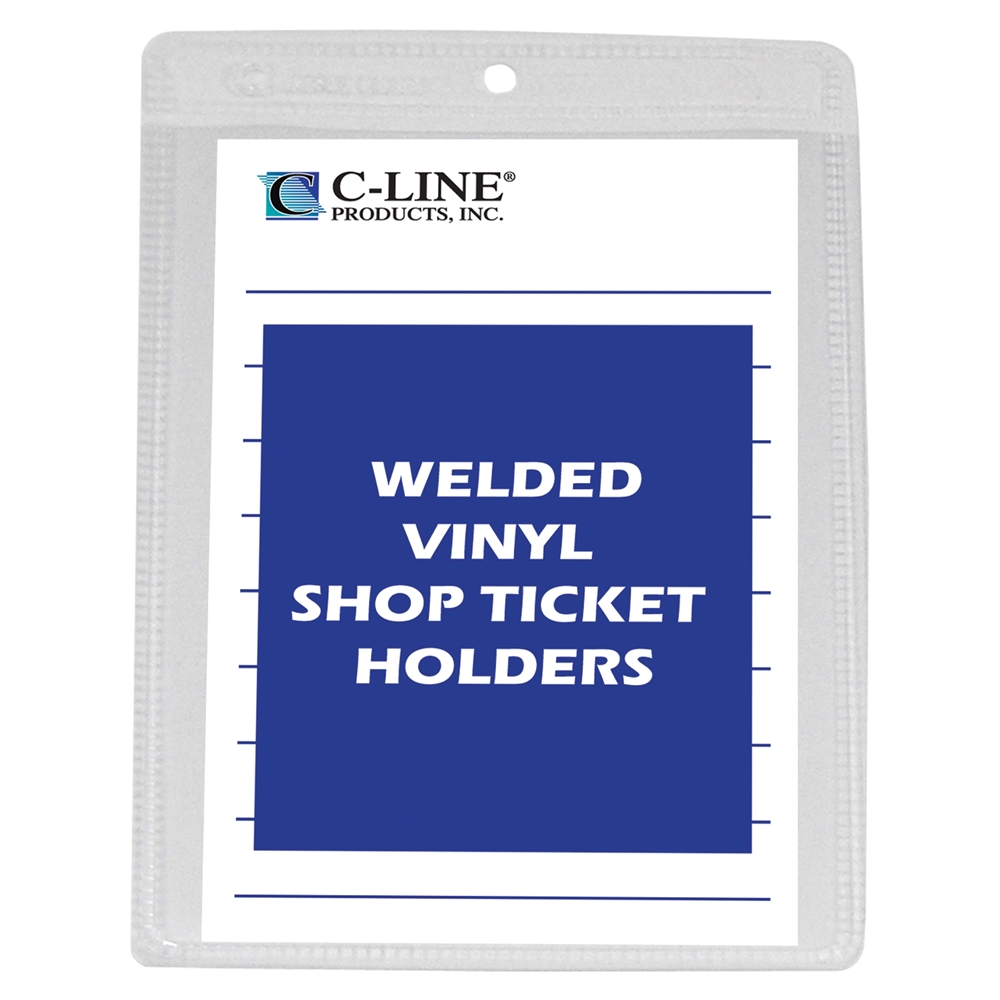 Vinyl Shop Ticket Holder Both Sides Clear 4 X 6 50 Bx