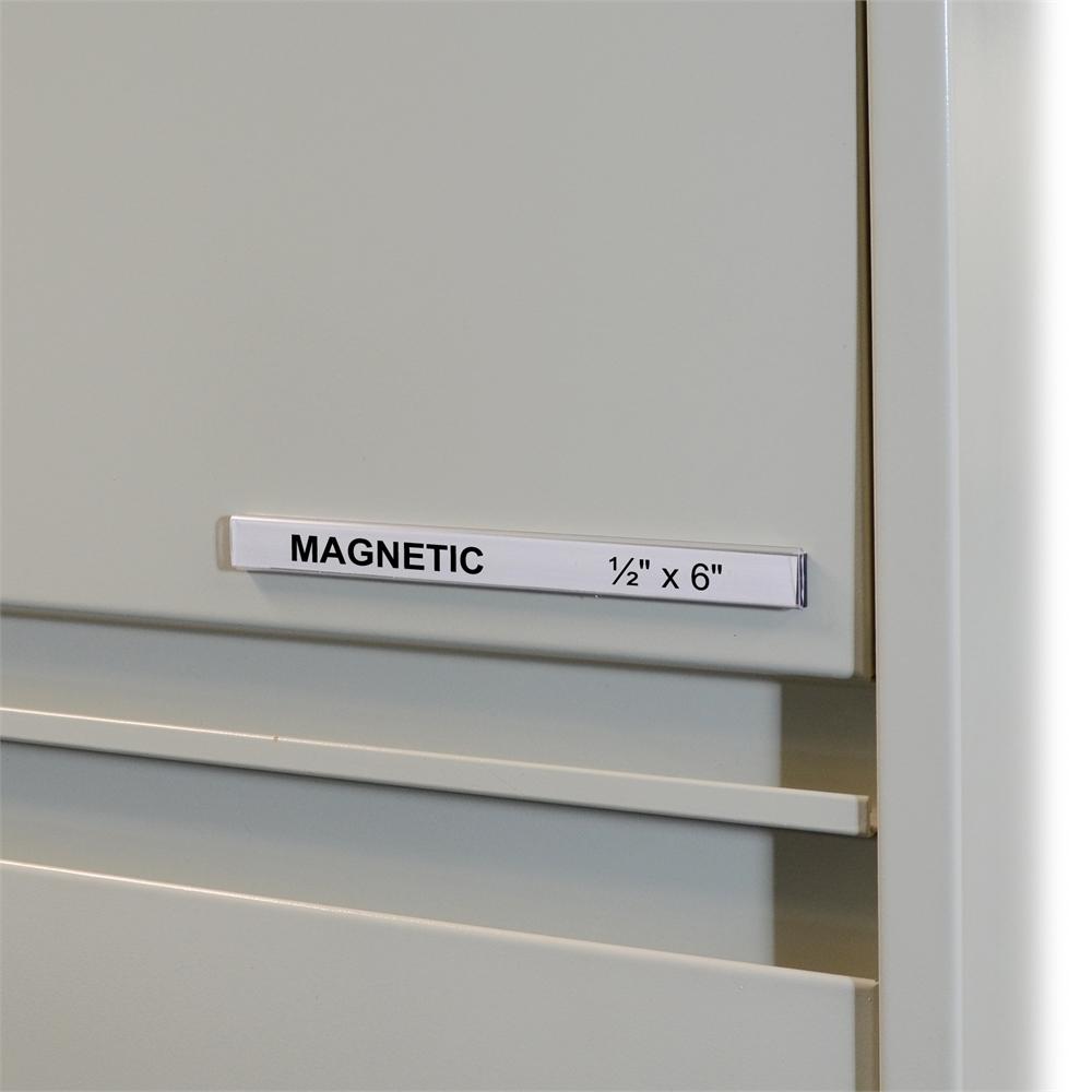 Hol Dex Magnetic Shelf Bin Label Holders 1 2 Inch