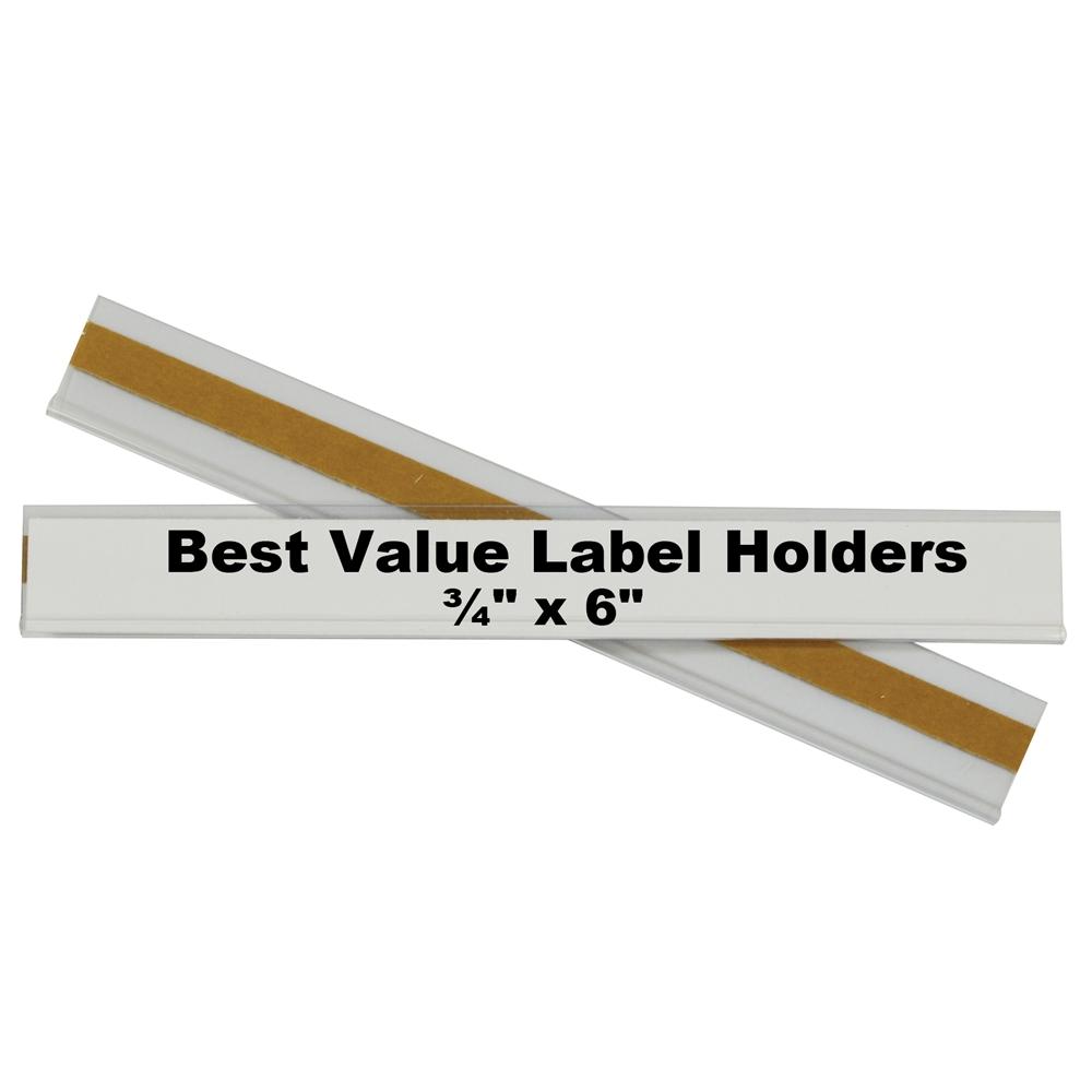 Best Value Peel Amp Stick Shelf Bin Label Holders 3 4 Inch