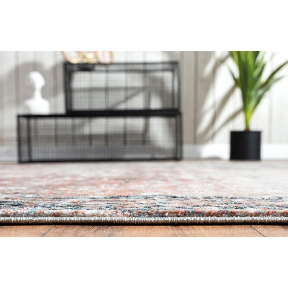 Abani Rugs Azure AZR240A Contemporary Warm Rust Area Rug - 6 x 9. Picture 6