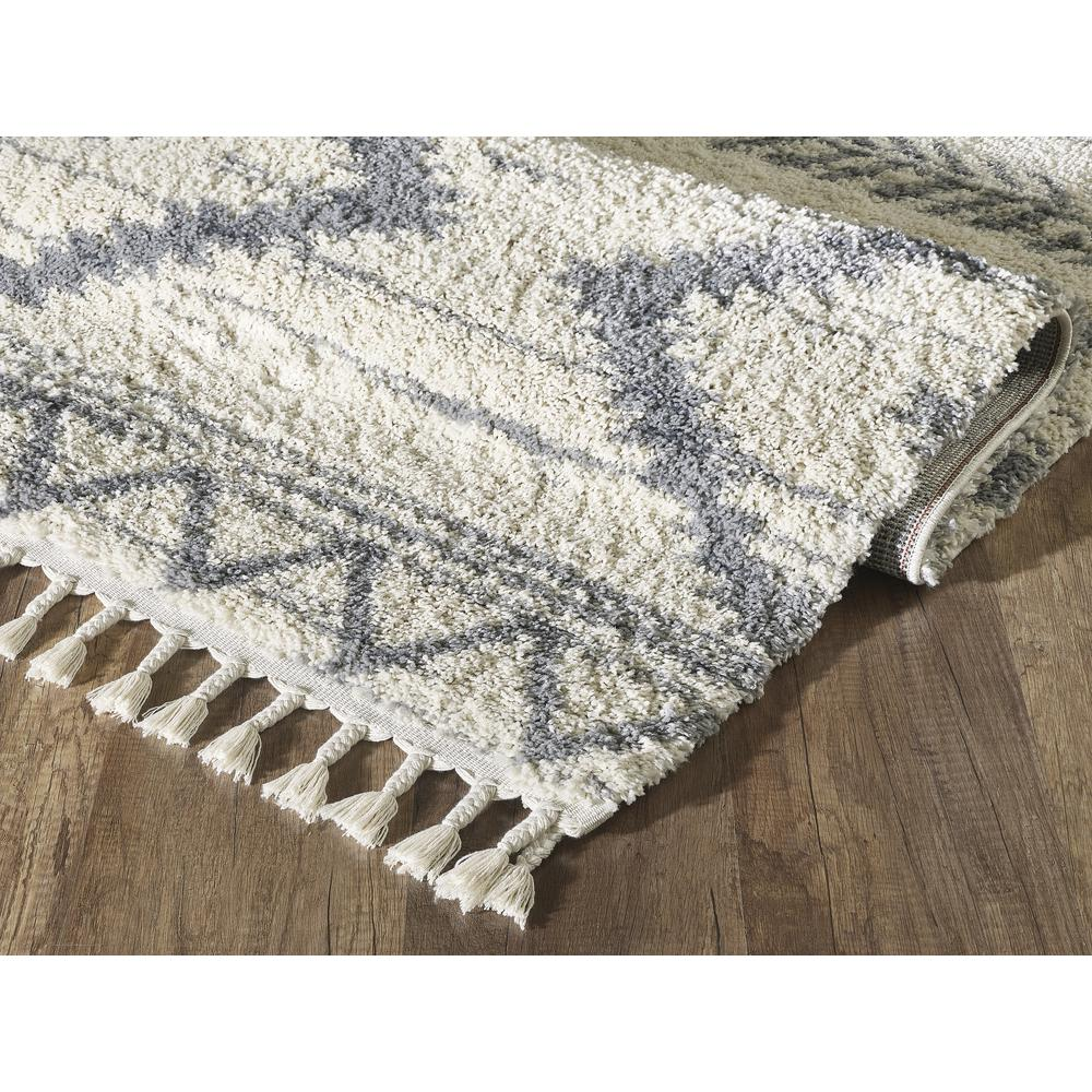 Abani Willow WIL110A Bohemian Geometric Ivory and Grey Area Rug - 3 x 5. Picture 6