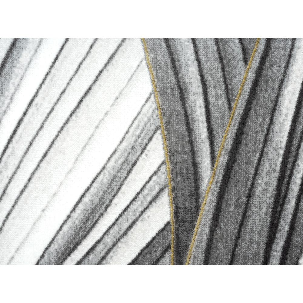 Abani Luna LUN210A Contemporary Grey and Gold Wavy Area Rug - 6 x 9. Picture 7