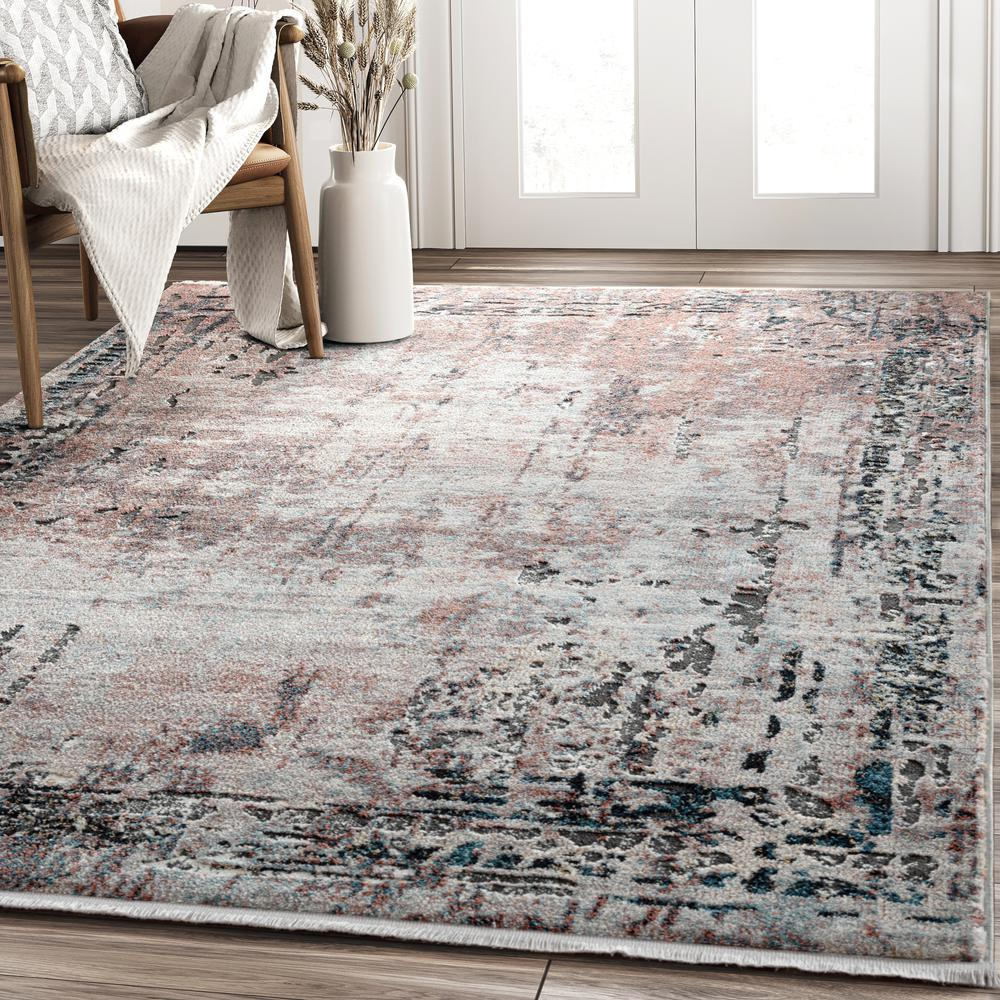 Abani Rugs Azure AZR240A Contemporary Warm Rust Area Rug - 6 x 9. Picture 5