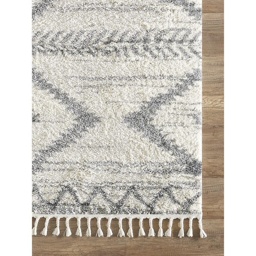 Abani Willow WIL110A Bohemian Geometric Ivory and Grey Area Rug - 3 x 5. Picture 2
