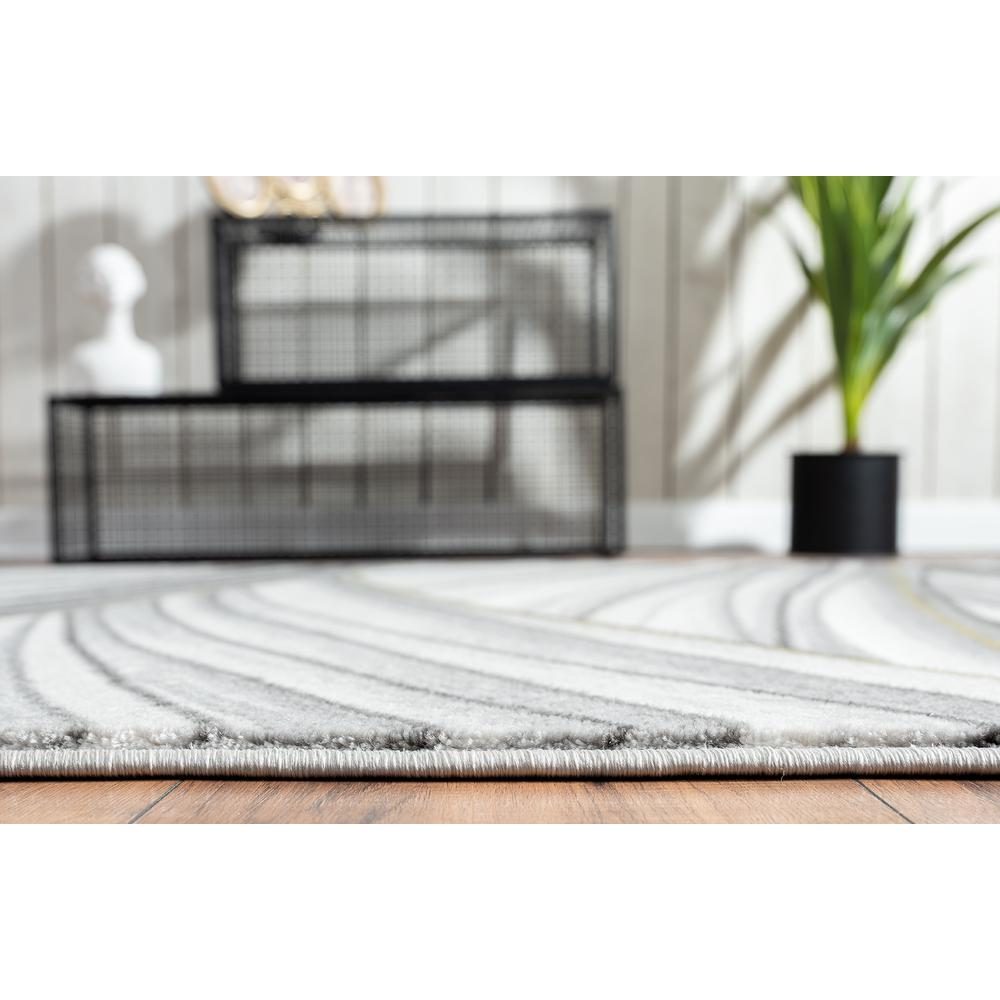 Abani Luna LUN210A Contemporary Grey and Gold Wavy Area Rug - 6 x 9. Picture 6