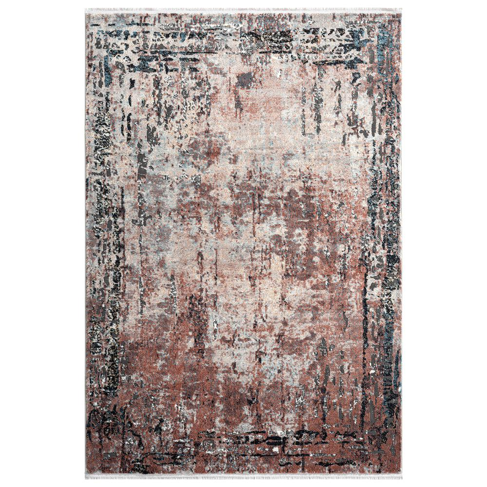Abani Rugs Azure AZR240A Contemporary Warm Rust Area Rug - 6 x 9. Picture 1