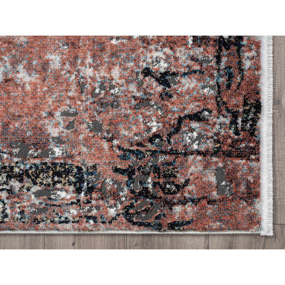 Abani Rugs Azure AZR240A Contemporary Warm Rust Area Rug - 6 x 9. Picture 2