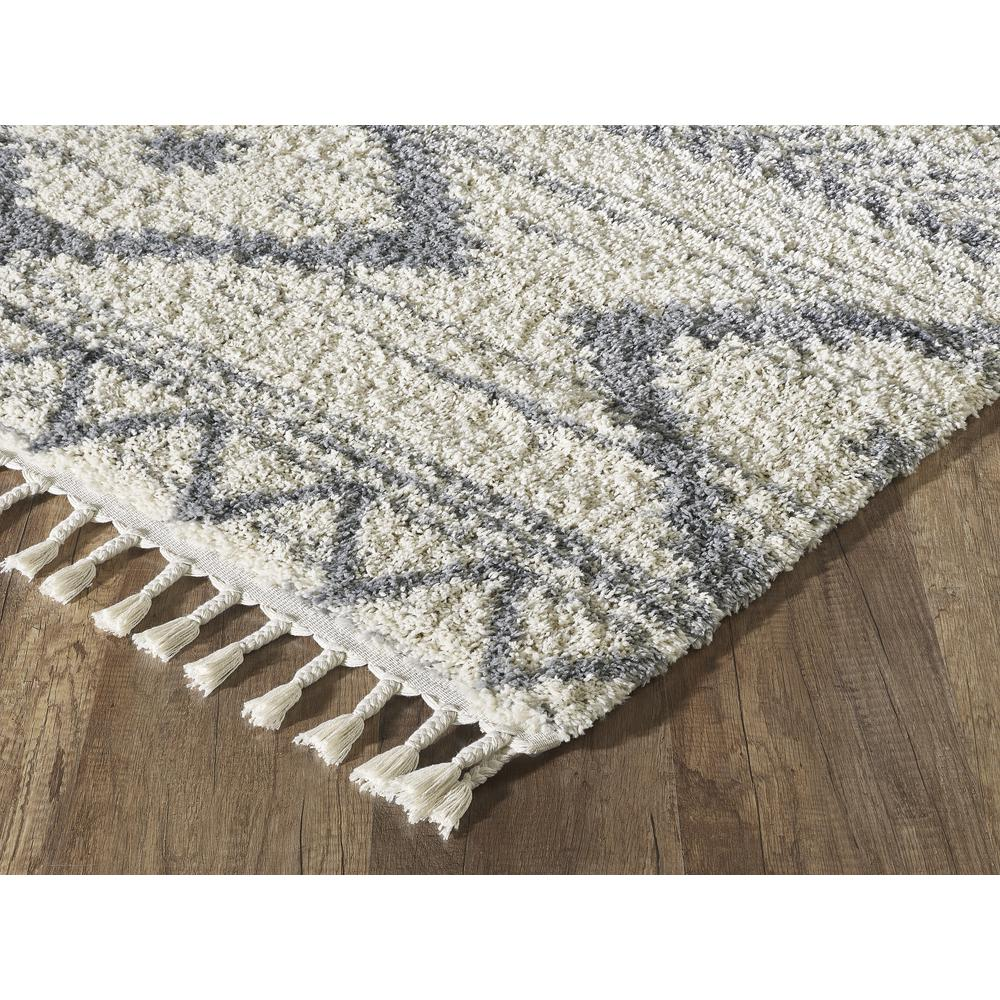 Abani Willow WIL110A Bohemian Geometric Ivory and Grey Area Rug - 3 x 5. Picture 3