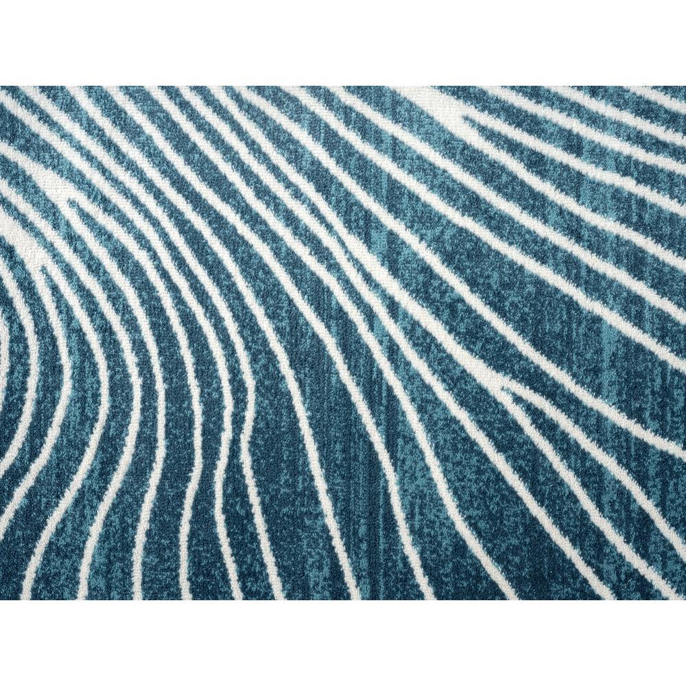 Abani Rugs Azure AZR250A Contemporary Blue Cream Swirl Rug - 79 x 102. Picture 7