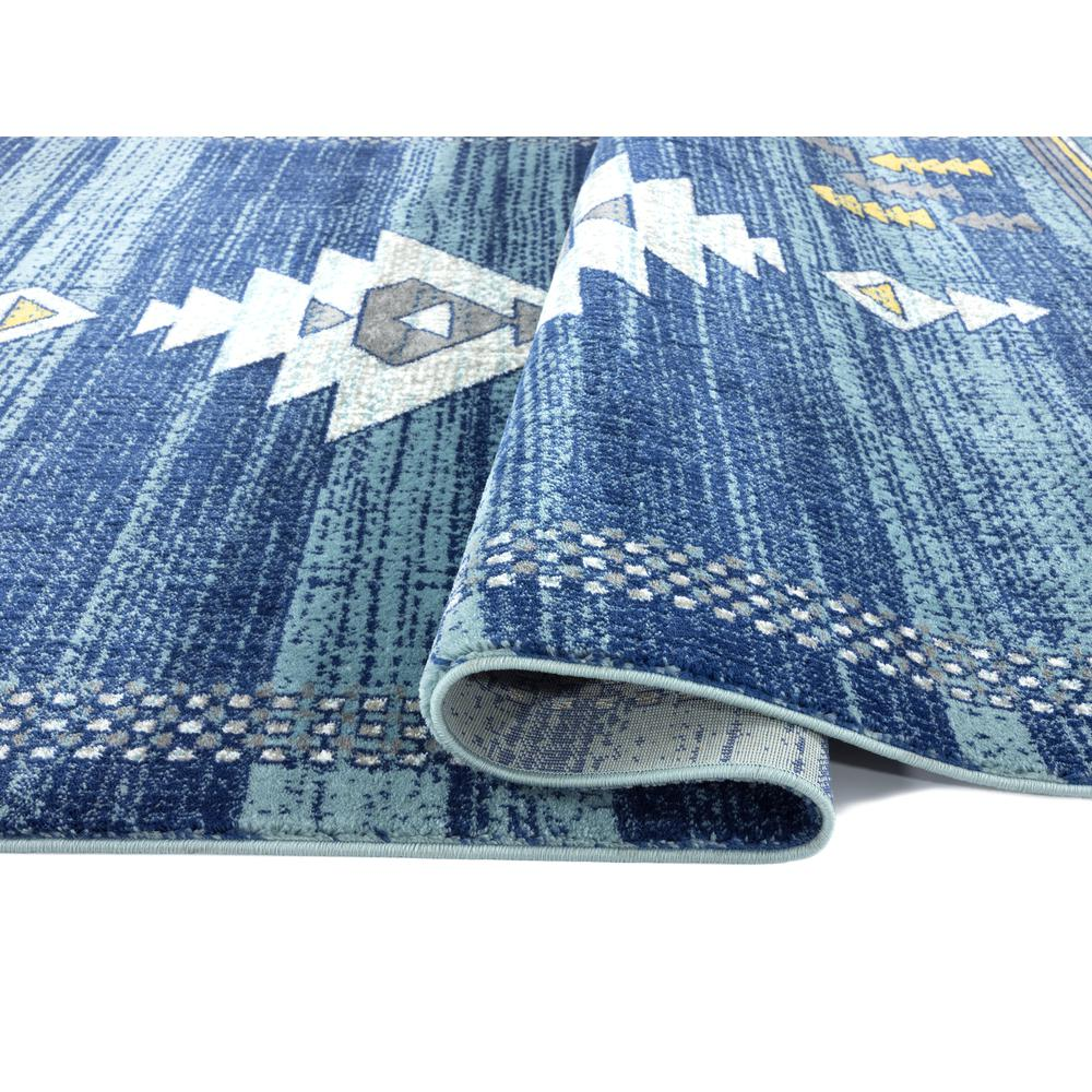 Abani Porto PRT110B Southwestern Tribal Print Blue and Yellow Area Rug - 4 x 6. Picture 3