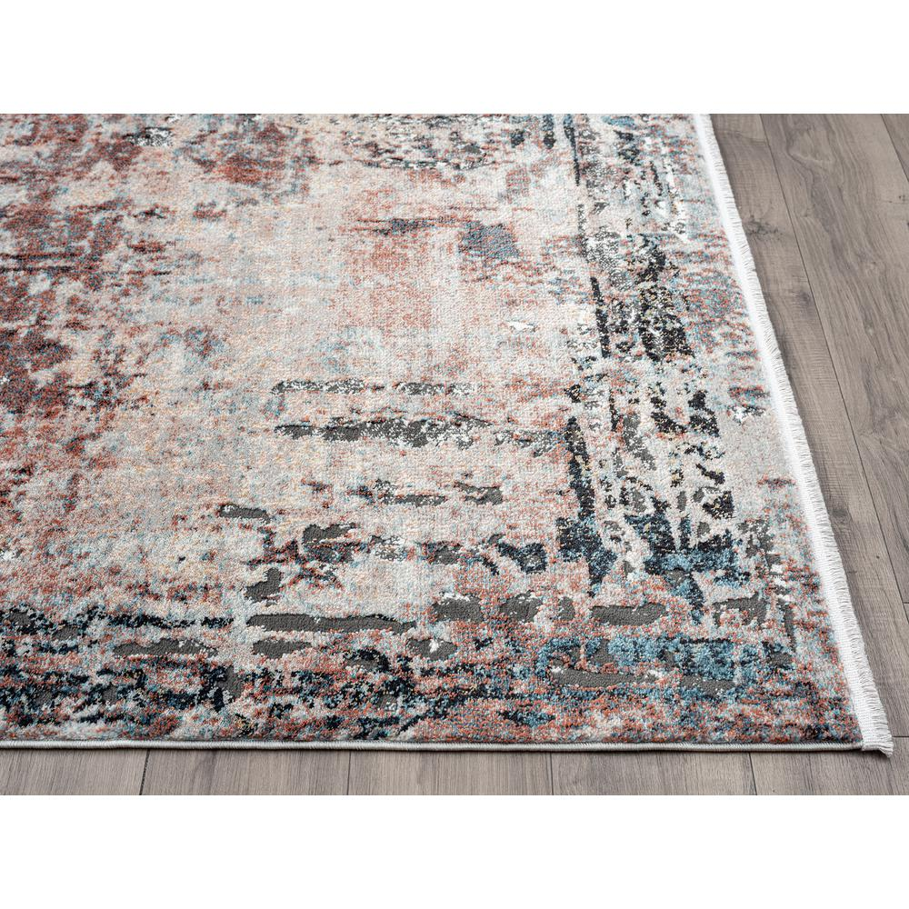 Abani Rugs Azure AZR240A Contemporary Warm Rust Area Rug - 6 x 9. Picture 4