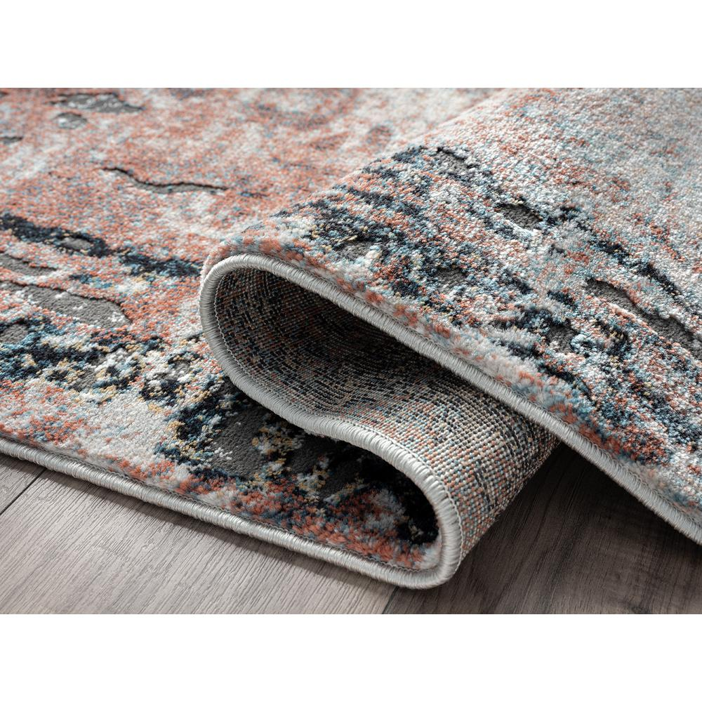 Abani Rugs Azure AZR240A Contemporary Warm Rust Area Rug - 6 x 9. Picture 3