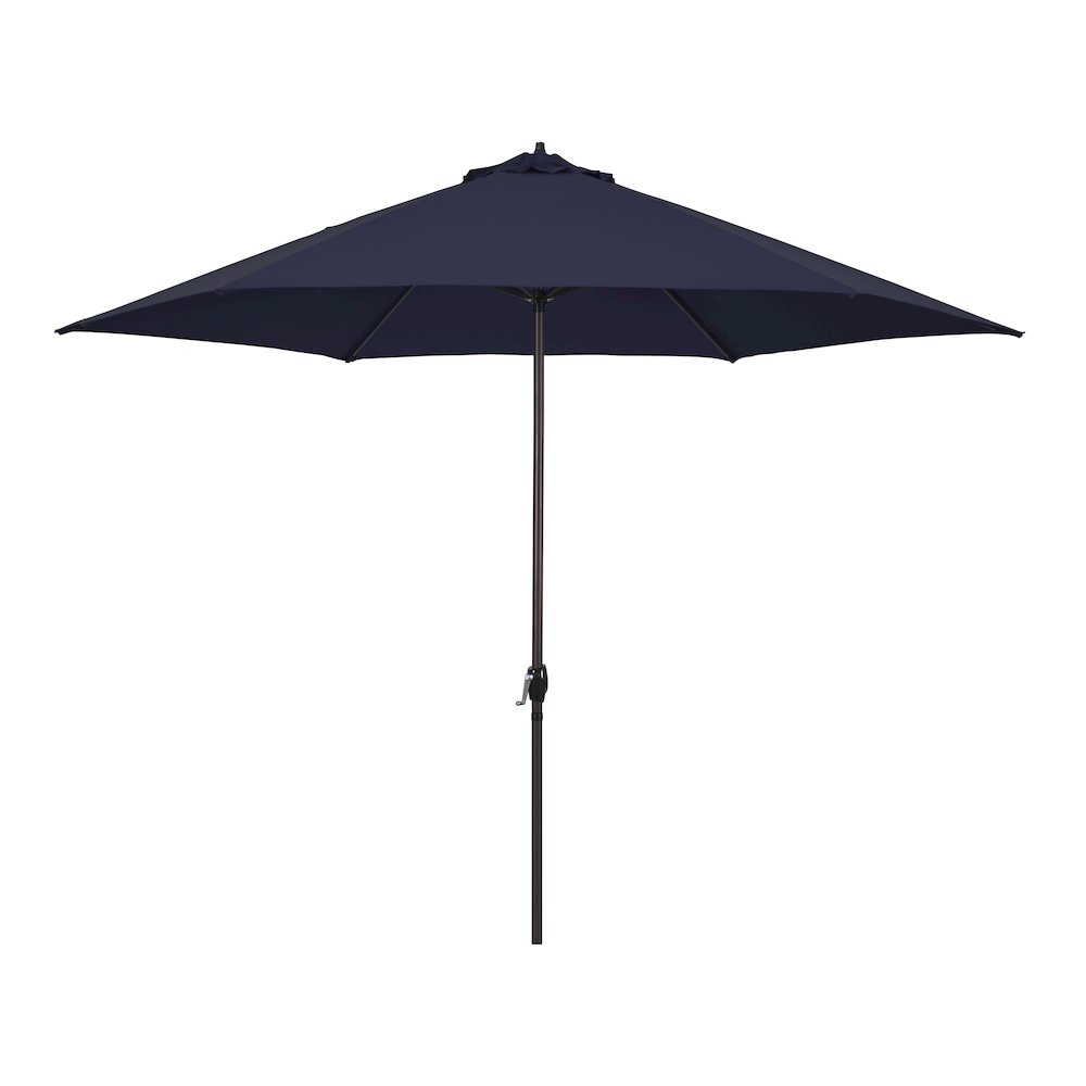 11' Luna Series Aluminum Market Umbrella with Crank Lift in Navy Blue