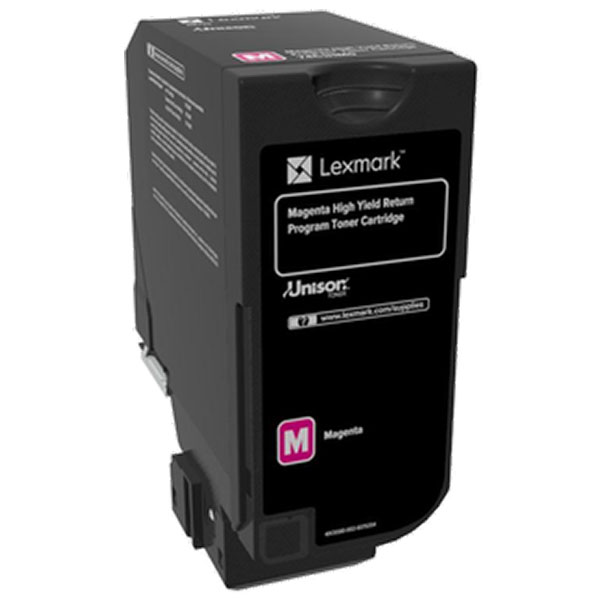 Lexmark CS720 CS725 High Yield Magenta Return Program Toner Cartridge for US Government (12000 Yield) (TAA Compliant Version of 74C1HM0). Picture 1
