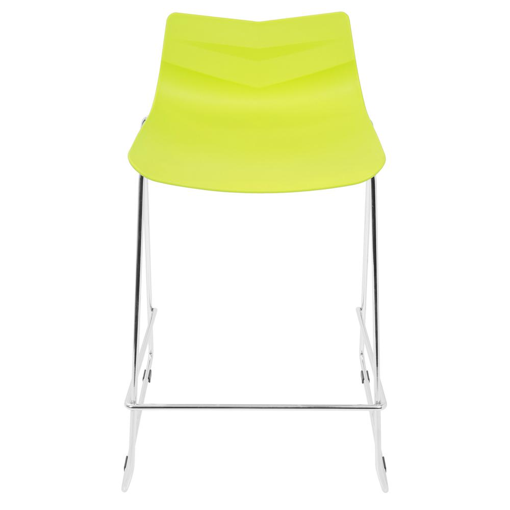 Arrow Contemporary Counter Stool in Lime Green - Set of 2. Picture 6