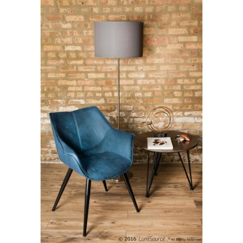 Wrangler Industrial Accent Chair In Blue Set Of 2