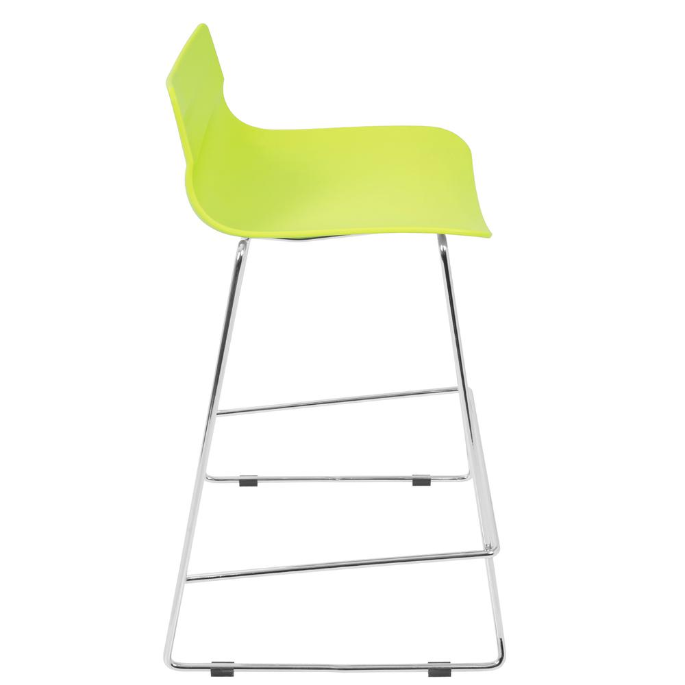 Arrow Contemporary Counter Stool in Lime Green - Set of 2. Picture 3