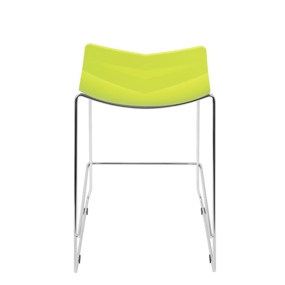 Arrow Contemporary Counter Stool in Lime Green - Set of 2. Picture 5