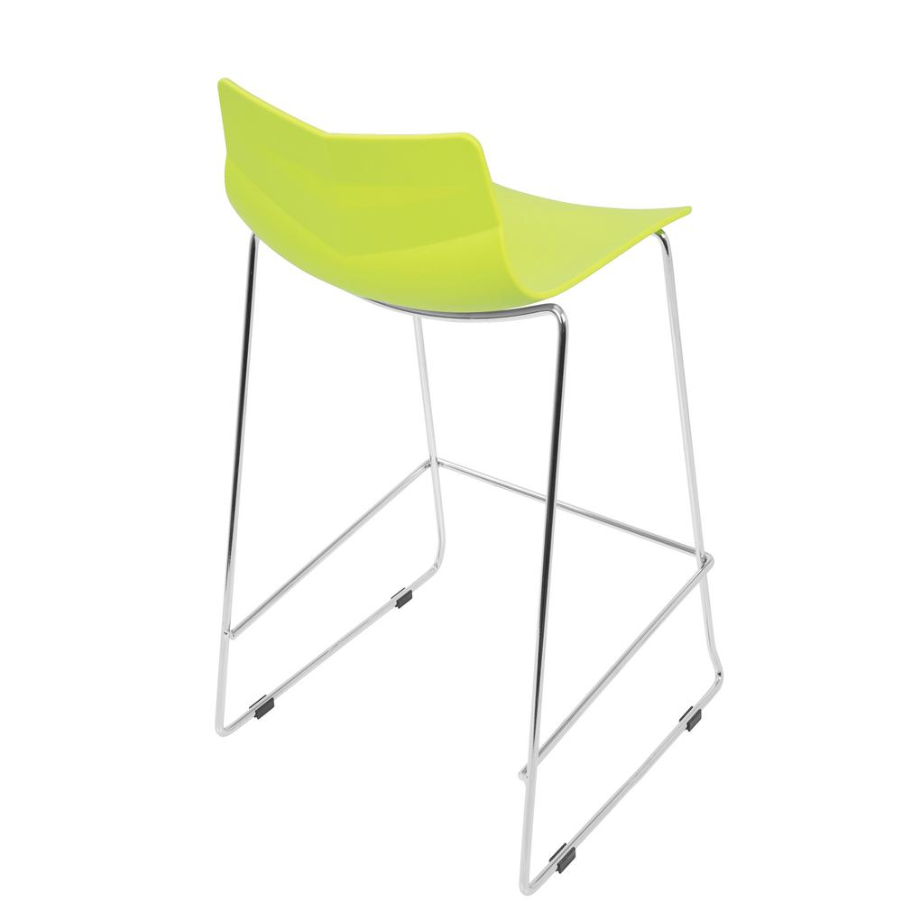 Arrow Contemporary Counter Stool in Lime Green - Set of 2. Picture 4
