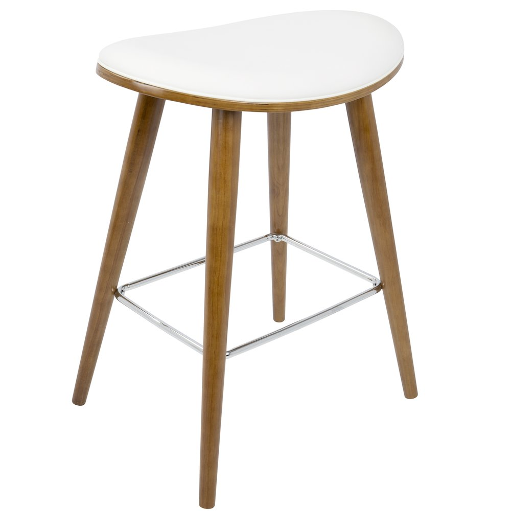 Saddle 26 Quot Mid Century Modern Counter Stool In Walnut And