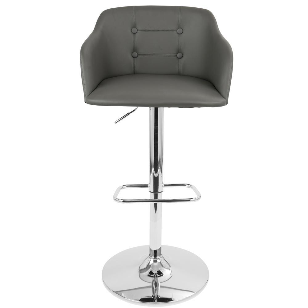 Campania Height Adjustable Barstool With Swivel Grey