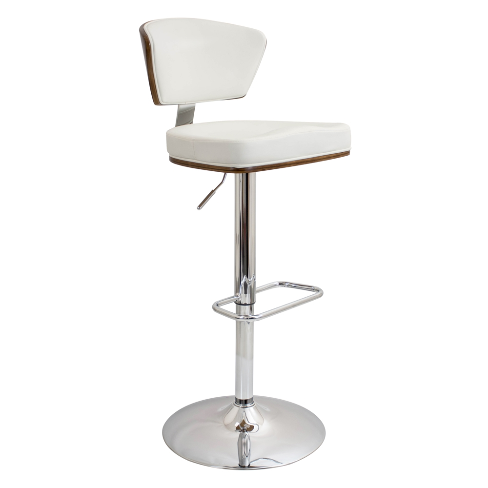 Ravinia Height Adjustable Barstool With Swivel Walnut