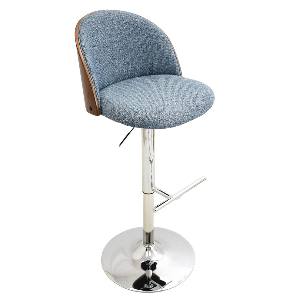 Luna Height Adjustable Barstool with Swivel Walnut Blue : 45bsluna20wlbu206 from www.bisonoffice.com size 1000 x 1000 jpeg 227kB