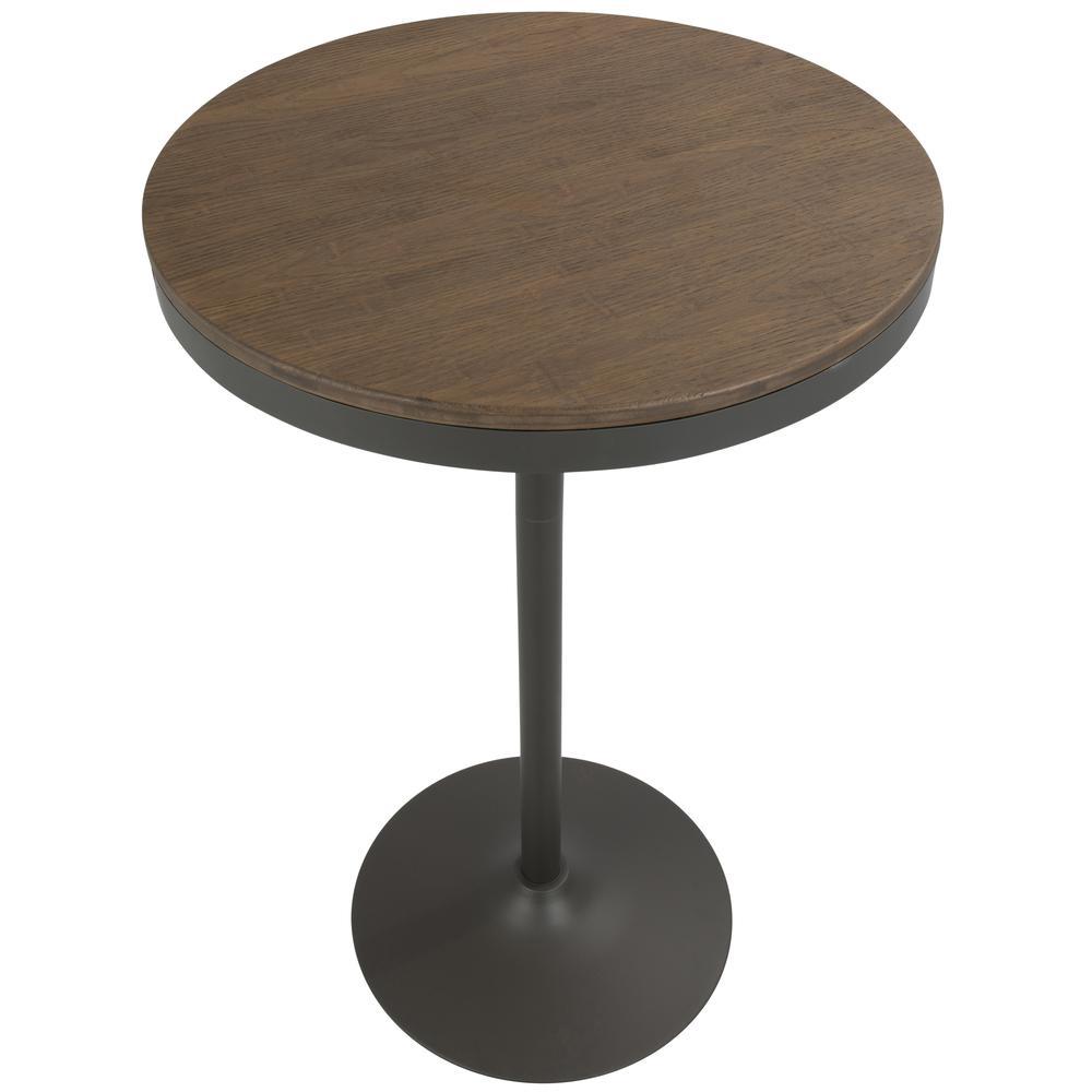 Dakota Industrial Adjustable Bar Dinette Table In Grey