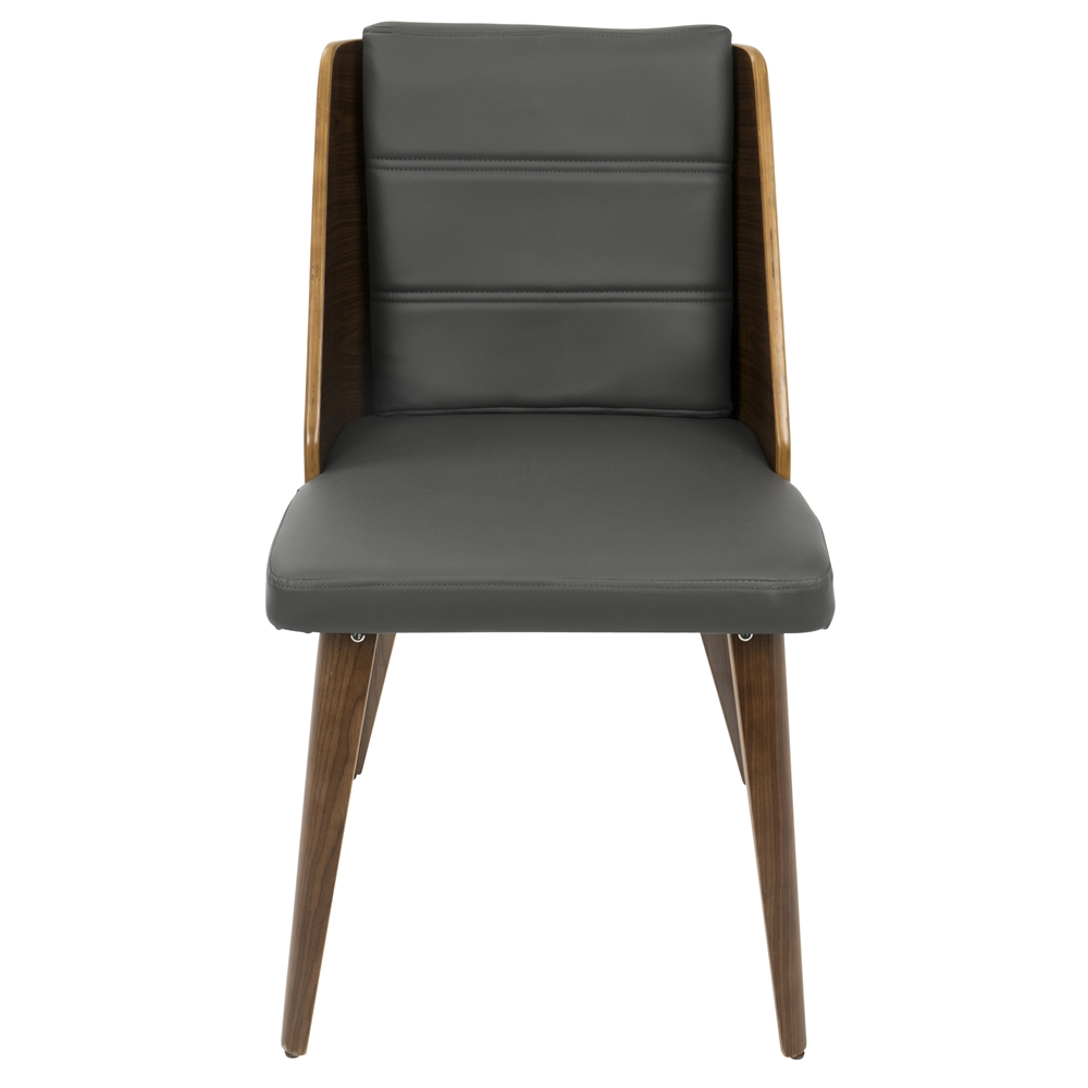 Galanti Mid Century Modern Dining Chair In Walnut Wood And