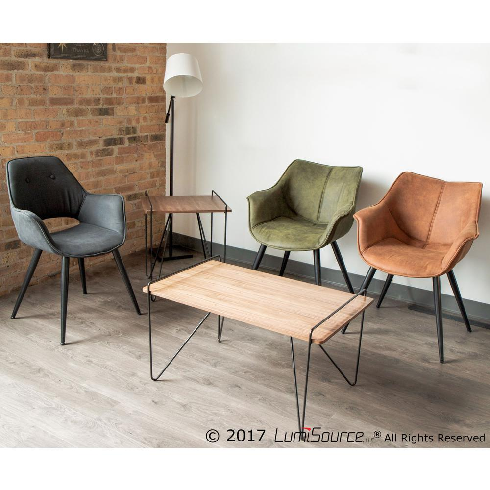 Wrangler Contemporary Accent Chair In Rust Set Of 2