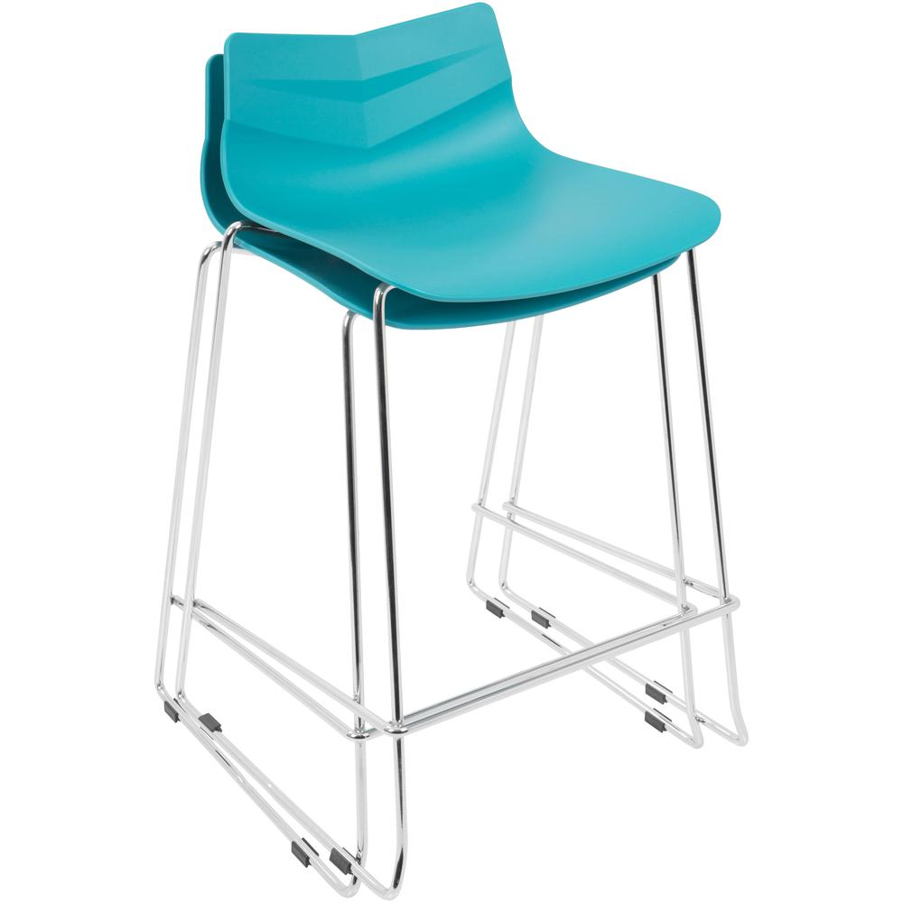 Arrow Contemporary Counter Stool In Turquoise Set Of 2