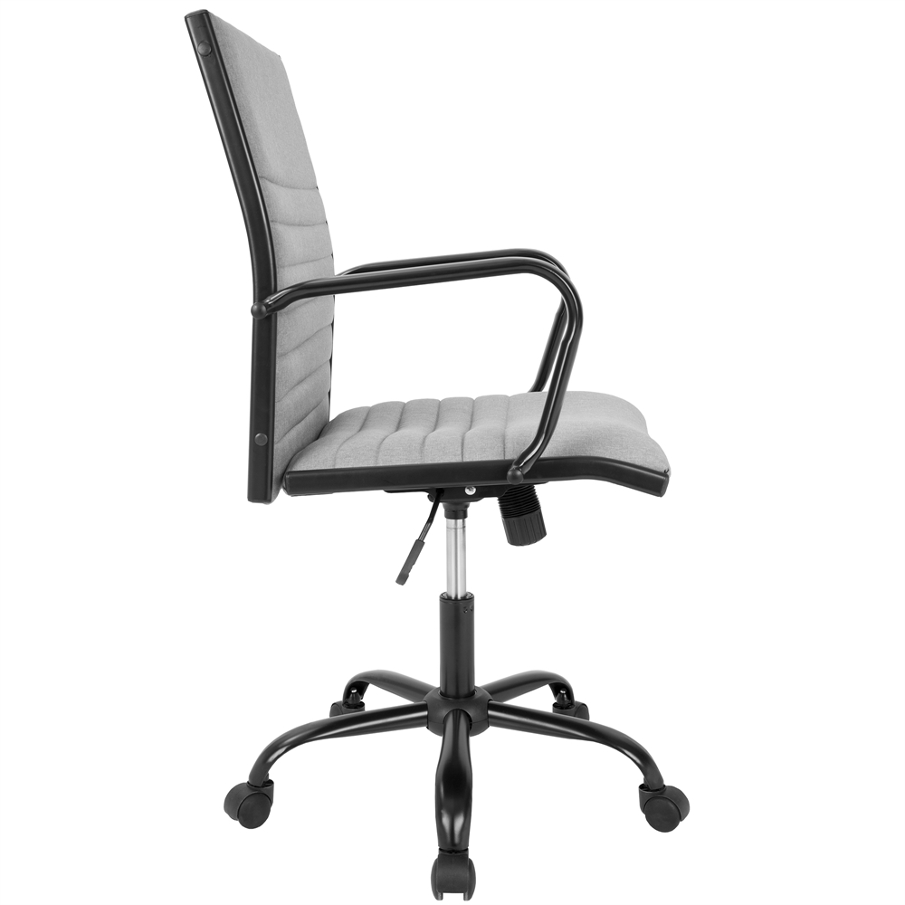 Master Contemporary Fabric Office Chair In Light Grey Black Light Grey Fabric