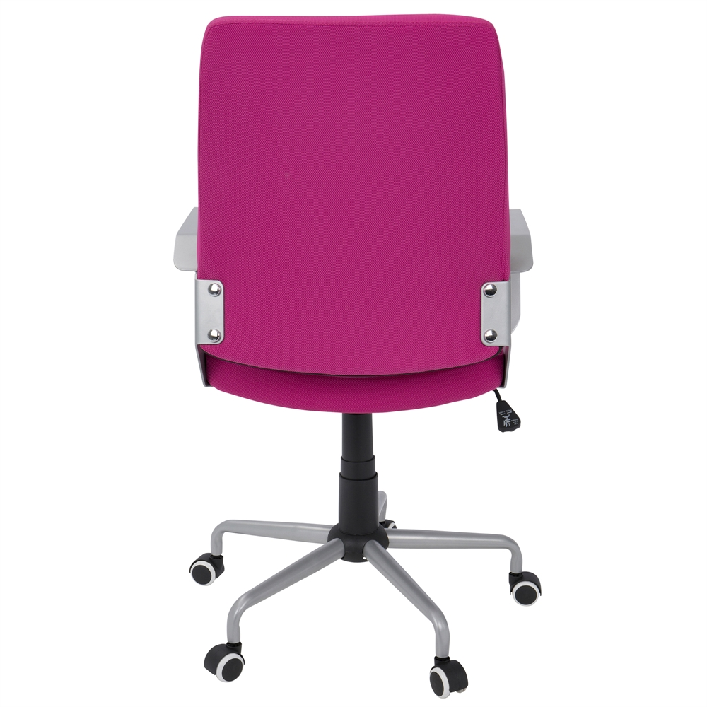 Zip Contemporary Office Chair In Hot Pink Fabric With