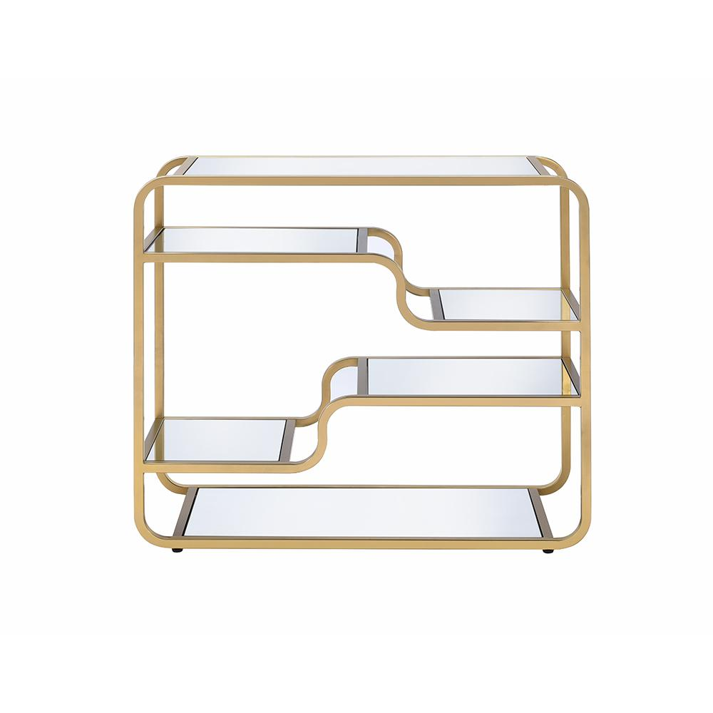 Modern yet Retro Gold And Glass Bar Table - 319009. Picture 6