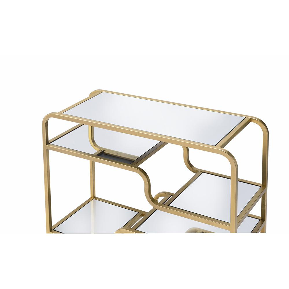 Modern yet Retro Gold And Glass Bar Table - 319009. Picture 9