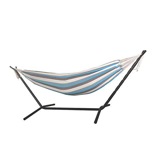 Lagoon Stripe Double Classic 2 Person Hammock with Stand - 379761. Picture 4