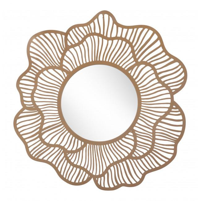 Flower Lines Gold Finish Wall Mirror - 385473. Picture 9
