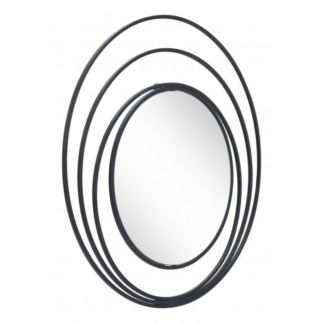 Concentric Circles Black Finish Wall Mirror - 385474. Picture 7