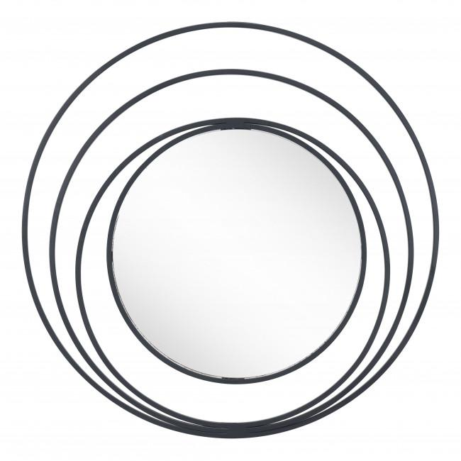 Concentric Circles Black Finish Wall Mirror - 385474. Picture 8