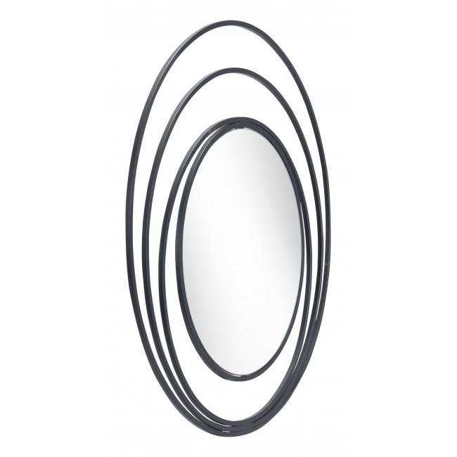 Concentric Circles Black Finish Wall Mirror - 385474. Picture 9